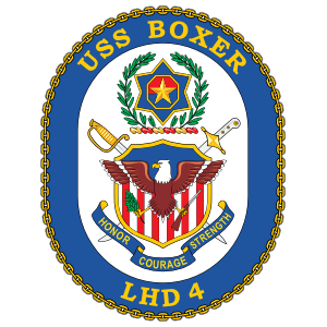 Navy Amphibious Assault Ship Lhd 4 Uss Boxer Sticker