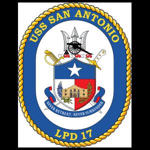 Navy Amphibious Transport Dock Lpd 17 Uss San Antonio Sticker