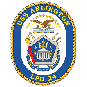 Navy Amphibious Transport Dock Lpd 24 Uss Arlington Sticker