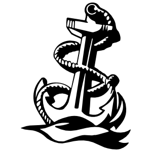 Navy Anchor Sticker