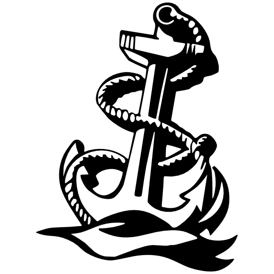 Navy Anchor Sticker