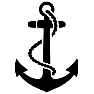 Navy Anchor Vinyl Sticker | Anchor Car Decal | Car Stickers