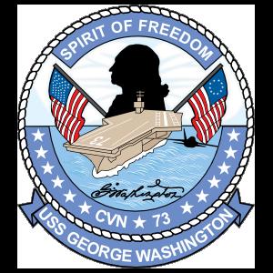Navy Carrier Ship Cvn 73 Uss George Washington Sticker
