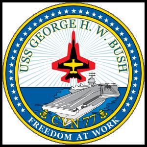 Navy Carrier Ship Cvn 77 Uss George H. W. Bush Sticker