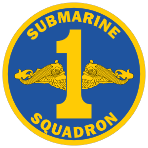 Navy Commander Submarine Squadron 1 Sticker