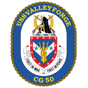 Navy Cruiser Ship Cg 50 Uss Valley Forge Sticker