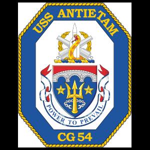Navy Cruiser Ship Cg 54 Uss Antietam Sticker