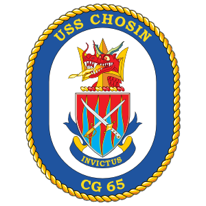 Navy Cruiser Ship Cg 65 Uss Chosin Sticker
