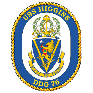 Navy Destroyer Ship Ddg 76 Uss Higgins Sticker
