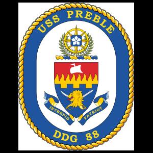 Navy Destroyer Ship Ddg 88 Uss Preble Sticker