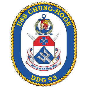 Navy Destroyer Ship Ddg 93 Uss Chung-Hoon Sticker