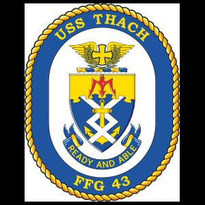 Navy Frigate Ship Ffg 43 Uss Thach Sticker