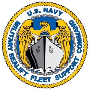 Navy Military Sealift Fleet Support Command Emblem Sticker