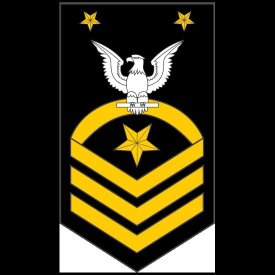 Navy Rank E-9 Fleet Master Chief Petty Officer Sticker