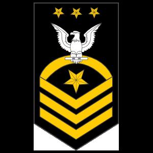 Navy Rank E-9 Master Chief Petty Officer Of The Navy Sticker