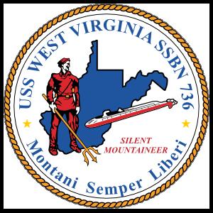Navy Submarine Ssbn 736 Uss West Virginia Sticker