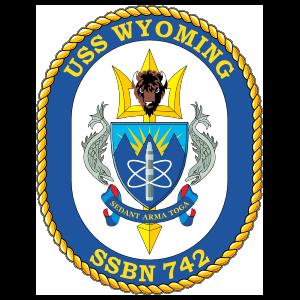 Navy Submarine Ssbn 742 Uss Wyoming Sticker
