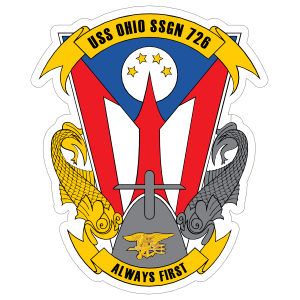 Navy Submarine Ssgn 726 Uss Ohio 2 Sticker