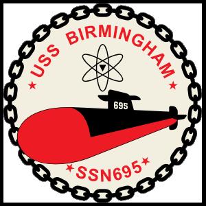 Navy Submarine Ssn 695 Uss Birmingham Sticker
