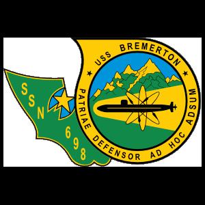 Navy Submarine Ssn 698 Uss Bremerton Sticker