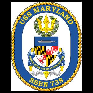 Navy Submarine Ssn 738 Uss Maryland Sticker