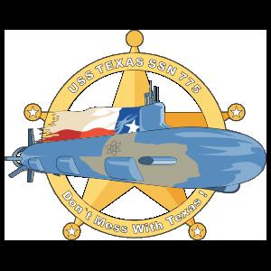 Navy Submarine Ssn 775 Uss Texas Sticker