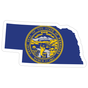Nebraska Flag State Sticker