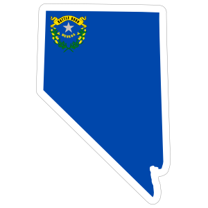 Nevada Flag State Sticker