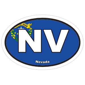 Nevada Nv State Flag Oval Sticker