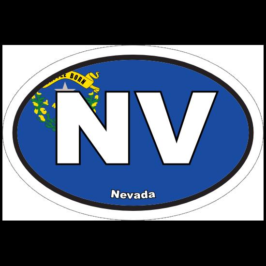 Nevada Nv State Flag Oval Sticker