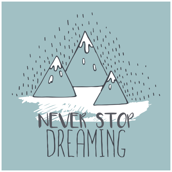 Never Stop Dreaming Square Sticker