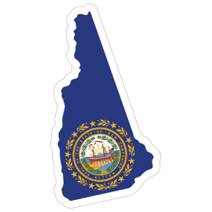 New Hampshire Flag State Sticker