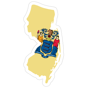 New Jersey Flag State Sticker