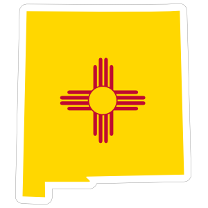 New Mexico Flag State Sticker