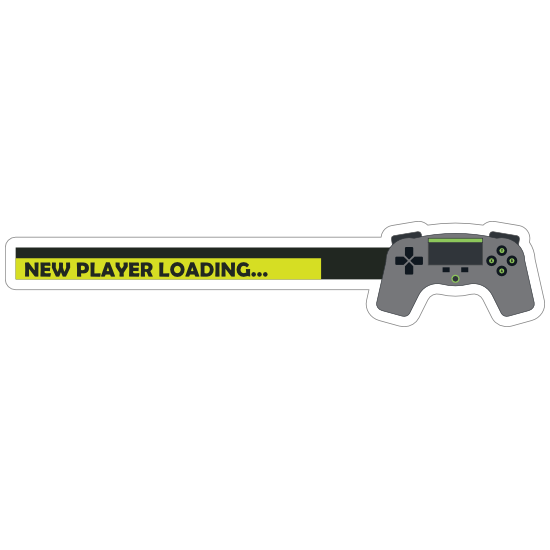 New Player Loading Baby on Board Sticker