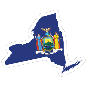 New York Flag State Sticker