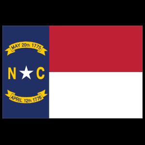 North Carolina Nc State Flag Sticker