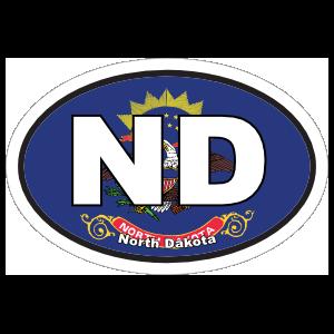North Dakota Nd State Flag Oval Sticker