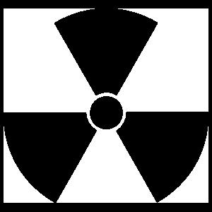 Nuclear Symbol Sticker