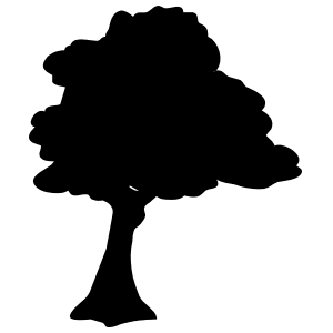 Windy Oak Tree Sticker