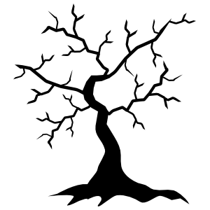 Thin Oak Tree Without Leaves Sticker