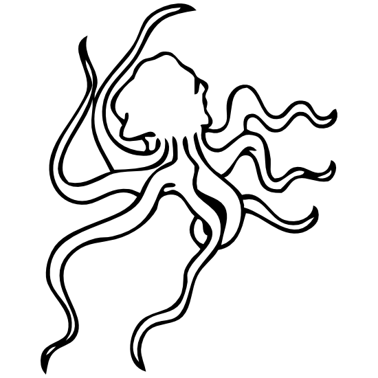 Cool Octopus Outline Sticker