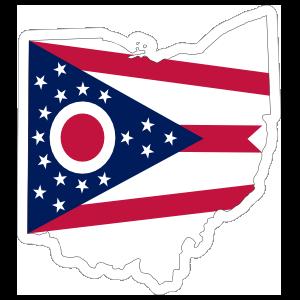 Ohio Flag State Sticker