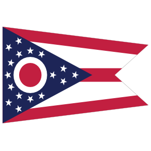 Ohio Oh State Flag Magnet