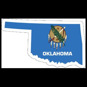 Oklahoma Flag State Sticker
