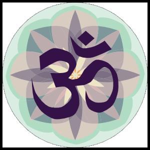 Om Yoga Circle Sticker