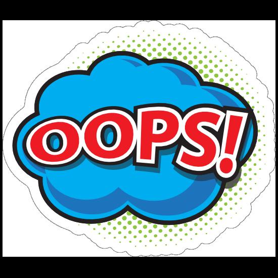 Oops Comic Sticker