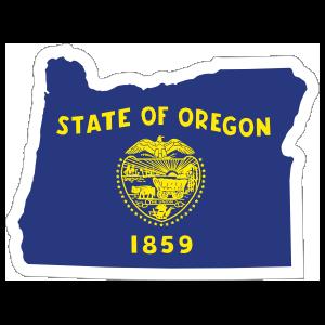 Oregon Flag State Sticker