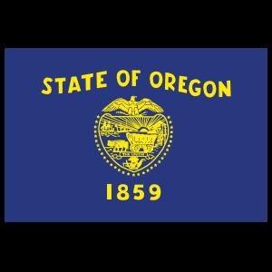 Oregon Or State Flag Sticker