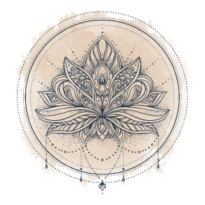 Ornate Lotus Flower Boho Sticker